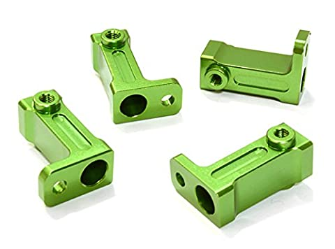 Integy RC Model Hop-ups C26723GREEN Billet Machined Side Rail Mount (2) for Axial 1/10 SCX-10 Scale Crawler
