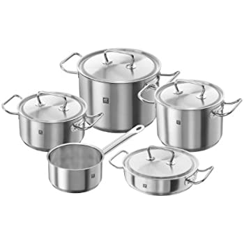 Zwilling Cookware Set Vitality 5 Parts, Stainless Steel ...