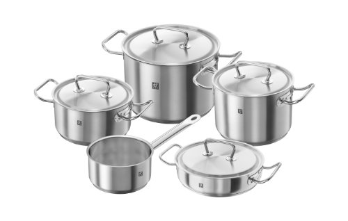 Zwilling – TWIN CLASSIC, Rechargeable Cookware Set 5 pz, in Stainless Steel 18/10 Satin