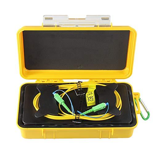 Comomingo SC / APC Professioneller Single Mode 2000M-OTDR-Kabel für die Kabeleinführung (gelb und zurück) -