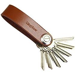 Finerolls Organizador de llaves Llavero Cuero Clip Llaves de Bolsillo para Llaves llave del coche regalos