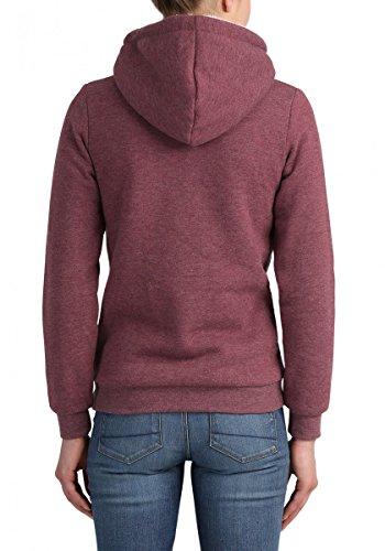 DESIRES Derby Pile Hood Damen Kapuzenpullover Hoodie Sweatshirt Teddyfutter Wine Red Melange (8985)