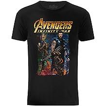 Marvel Camiseta con Superhéroes de la Película Avengers Infinity War