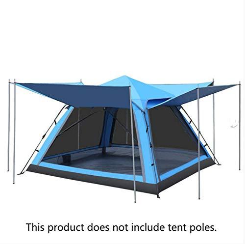dongdada Outdoor Camping Tourist Zelt 4 Personen doppellagig wasserdicht Vier Türen Automatik Familie Party Strand Pavillon Zelt, C