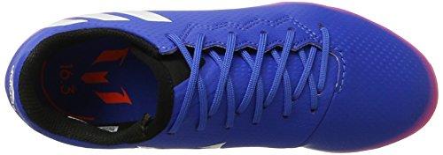 adidas Messi 16.3 Ag, Chaussures de Football Mixte Enfant Bleu (Blue/footwear White/solar Orange)