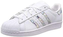 adidas Unisex-Child Superstar J Sneakers, White, 37 1/3 EU
