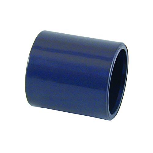 1 Stück PVC Muffe mit beidseitiger Klebemuffe, Größe wählbar von 12-110mm (40mm)