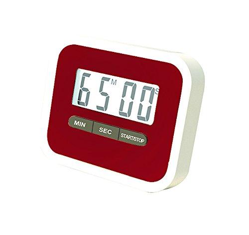 Rot Timer (CAOLATOR Elektronischer Timer LCD-Display Küchentimer mit Stoppuhr Rot)