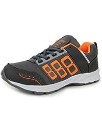 Trase JKR Men's Zoom Grey/Orange Sports Running Shoe