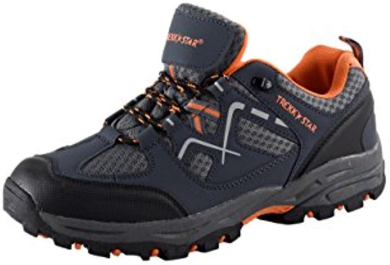 HSM Schuhmarketing - Zapatillas de senderismo de Material Sintético para hombre gris gris