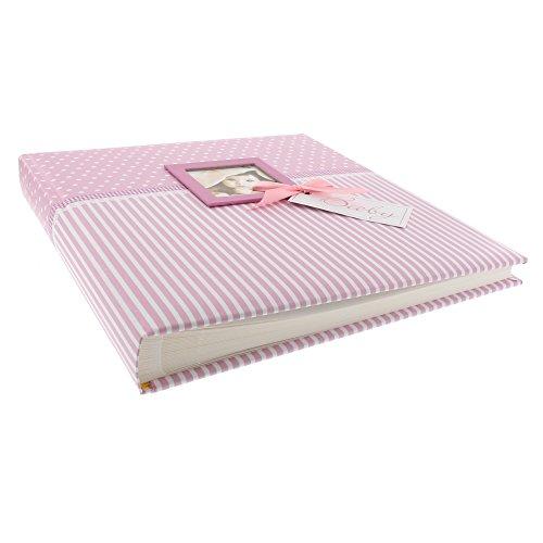 it Fensterausschnitt, Sweetheart, 30 x 31 cm, 60 weiße Blankoseiten mit 4 illustrierten Seiten und Pergamin-Trennblättern, Kunstdruck, Pink, 15801 (Mädchen-album)