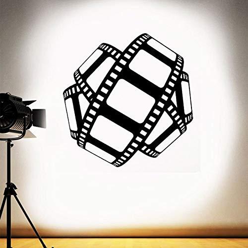Kino Wandtattoo Film Streifen Zeichen Band Film Poster Heimkino Dekor Spielzimmer Vinyl Aufkleber Video Film Studio Kunstwand 42X43CM