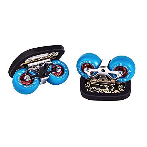 8bayfa Kinder Erwachsene Split Freeline Skates Drift Skate Maple Pedal Verschleißfeste PU-Rad Maximale Belastbarkeit 200 kg Geeignet for Einsteiger Brush Street Unisex (Color : Blue) -