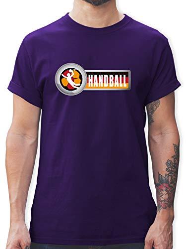 Handball WM 2019 - Handball Deutschland 2 - XXL - Lila - L190 - Tshirt Herren und Männer T-Shirts