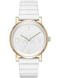 DKNY correa de reloj NY2632 Cuero Blanco 18mm(Sólo reloj correa - RELOJ NO INCLUIDO!)