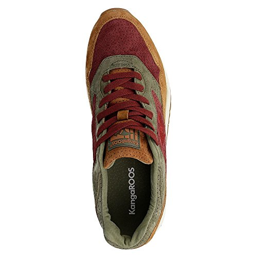 KangaROOS Ultimate Leather, Baskets Basses Mixte Adulte Multicolore - Mehrfarbig (Cognac/Wine 367)