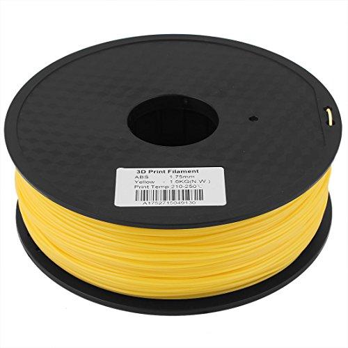 Preisvergleich Produktbild sourcingmap® Gelb 1, 75mm ABS 1kg / 2, 2lb 3D Drucker Filament für RepRap MakerBot ULT de