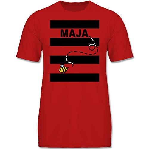 Boy Biene Kostüm Kleinkind - Karneval & Fasching Kinder - Bienen Kostüm Maja - 104 (3-4 Jahre) - Rot - F130K - Jungen Kinder T-Shirt
