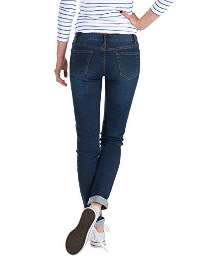 Fraternel Damen Jeans Hose normaler Bund stretch Dunkelblau