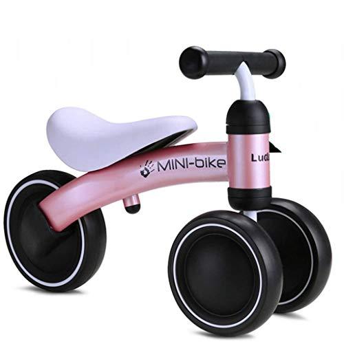 Baby Balance Bike - Leichtes Kleinkind-Mini-Fahrrad für 1 2 Jahre Alten Jungen Mädchen Geburtstagsgeschenk, sicheres Reiten Spielzeug, Laufen Walking Bike, Kids First Bike, Pink ZHAOFENGMING