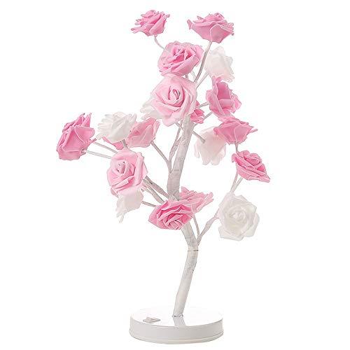 BONNIO Rosa Rose Lampe nachtlicht batteriebetriebenes dekoratives licht für nachttisch Hochzeit