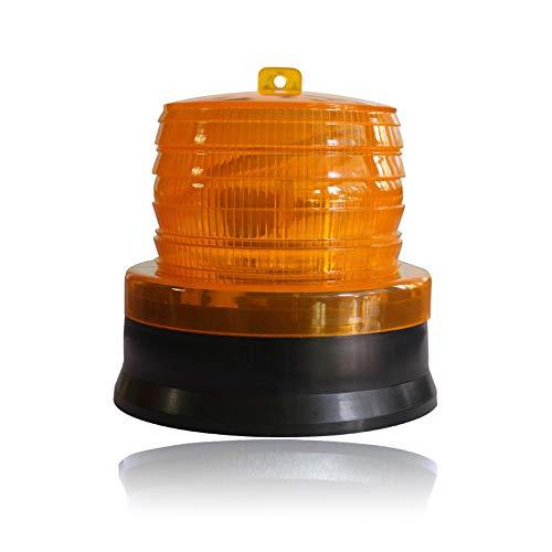 HHF LED Bulbs Lamps, Solar-LED-Verkehrswarnlicht Straßensperre Magnet Licht Bau Signal Strobe Strobe Light (Color : Gelb) (Solar-lampe)