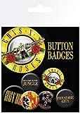 Unbekannt GB Eye LTD, Guns N Roses, Lyrics y Logos, Pack de Chapas