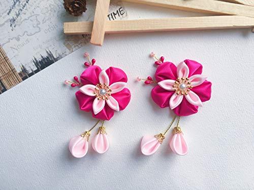 P Prettyia 2X Elegante Acr/ílico Sakura Decoraci/ón Horquilla Pelo de Palillo Japon/és Kanzashi