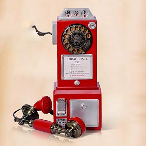 GIOW Retro- kreatives Telefon-Drehkreuz, das europäisches antikes Haus-Maschinen-modernes Mode-Telefon wählt