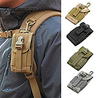 OD : AIRSOFTPEAK 4.5 inch Universal Army Tactical Bag for Mobile Phone Hook Cover Pouch Case Molle Belt Cell Phone Pouches