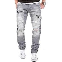 MERISH Herren Jeanshose Destroyed Look Chino Regular Fit Jeans Hose Neu Trend J727