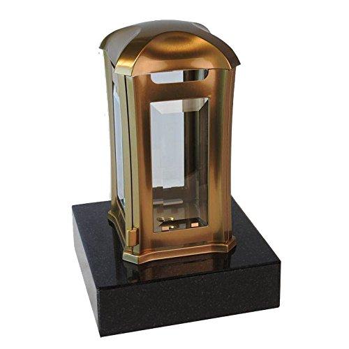 designgrab aml5agb1swed Lampe tombale Venezia en Acier Inoxydable - Bronze, Doré, 13 x 13 x 24 cm
