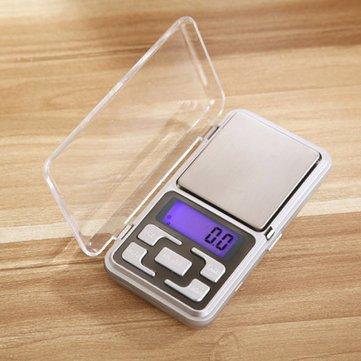 Especificación: Material: plástico de ingeniería + metal. Tamaño: 12 x 6,2 x 2 cm. Tamaño de la sartén: 5,6 x 5 cm. Fuente de alimentación: alimentación por 2 pilas AAA (no incluidas). Unidad de medición: g, oz, tl, ct, gn. Calibración: auto calibrac...