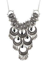 4e4a53621 Urbanela Oxidized German Silver Gypsy Look Tribal Antique Boho Afgani  Necklace   Fashion Jewellery   URAFGN195