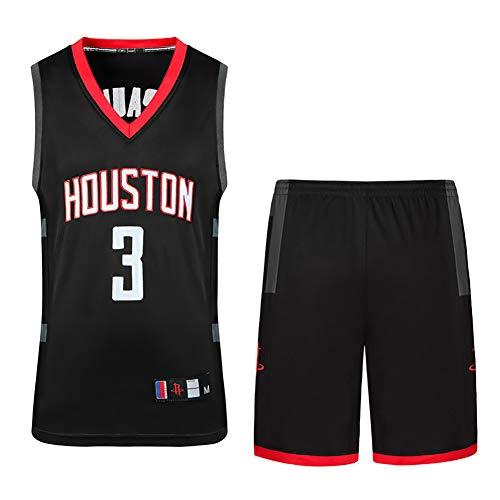 Unbekannt Basketball Sportswear, Rockets Chris Paul 3, Set High-End-Stickerei Handwerk, Basketball Weste Top + Shorts - Ziel Unbekannt Kostüm