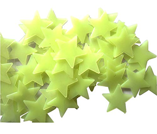 Baanuse Luminoso pegatinas de pared Estrellas Luminosas Pegatina Pared Fluorescente Brilla Oscuridad 200Pzas