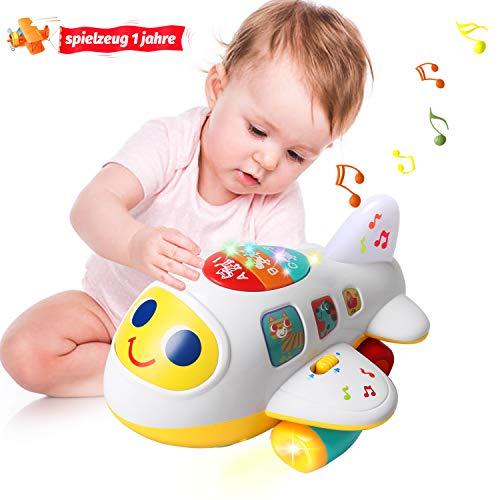 ACTRINIC Baby Spielzeug elektronisches Flugzeug Spielzeug mit Licht und Musik Best pädagogisches Spielzeug für Kinder für Kleinkinder Jungen und Mädchen 1 2 3 4 5 Jahre alt