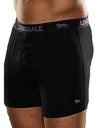 2 x LONSDALE Herren Unterwäsche Boxershorts Trunk Boxer Shorts Schwarz