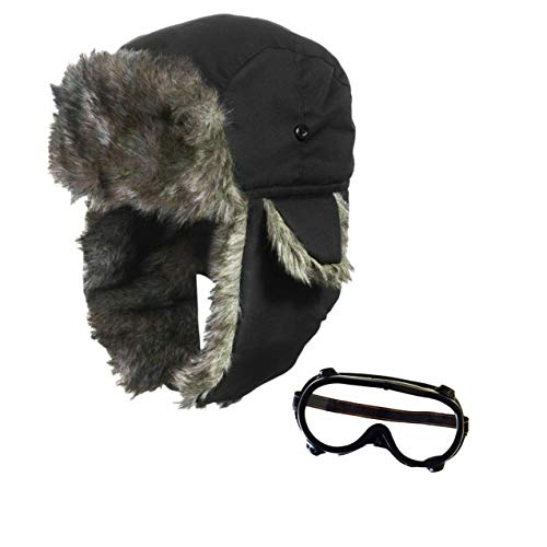 seemeinthat Men Adult Airline Adult Set WW1 World War Aviator Goggles Costume Accessory Fancy - Kostüm Aviator Goggles