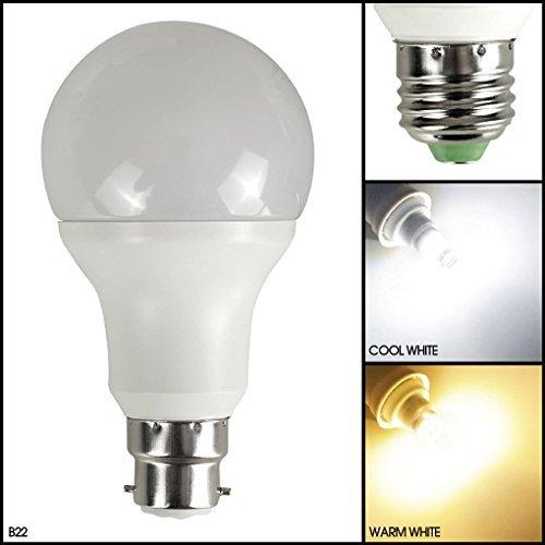 MSC LED-Lampe mit dämmerungsabhängigem Lichtsensor, 3Watt, 270Lumen, automatischer Lichtsensor mit LED-Birne, automatische An-/Abschaltung, warmweißes Leuchtmittel mit 3000K, energiesparend, 3W entspricht 30-W-Glühlampen, Warm White 1 Pack, b22, 3.00
