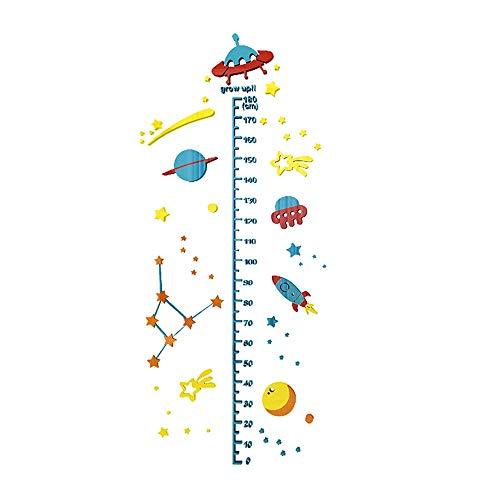 Zhzhqm DIY Wandaufkleber Höhe Aufkleber 3D Stereo Wand DIY Aufkleber Baby Schneider Wandaufkleber Kinderzimmer Höhe Test