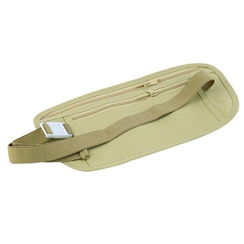 ulable funda de viaje efectivo con cremallera cintura compacto Seguridad dinero cinturón de cintura bolsa