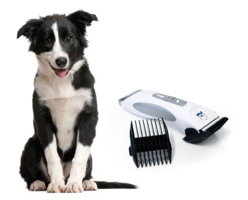 Akku Tierhaarschneider Ultra Professional Haarschneide Maschine Tierhaarschneidemaschine Tierschneidemaschine Haarschneidemaschine Schermaschine Haustiere Elektrische Haarschneidemaschine in weiß für Hunde Haustiere von der Marke PRECORN - 2