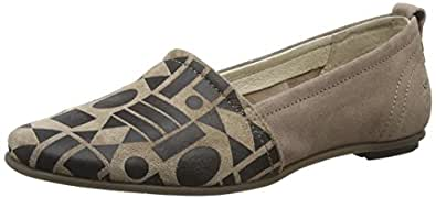 FLY London FENT685FLY, Damen Slipper, Mehrfarbig (Taupe/Black 008), 36 EU