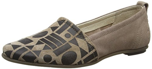 FLY London Fent685fly Damen Slipper Mehrfarbig (TAUPE/BLACK 008)