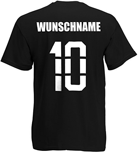 Wales T-Shirt Trikot Name Nummer Schwarz