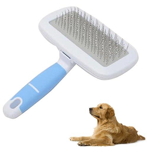JIALUN-Haustier-Produkte Pet Hair Combs Edelstahl Nadel Friseur Pinsel mit kleinen Kamm, zufällige Farbe Lieferung, S, Gesamtlänge: 13,5 cm
