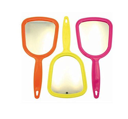 Handspiegel kleiner Spiegel 4-farbig sortiert 4 Stück