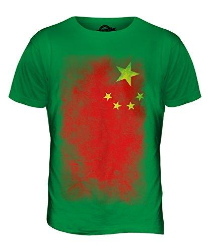 CandyMix Volksrepublik China Verblichen Flagge Herren T Shirt Grün