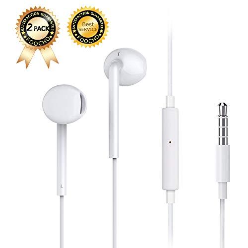 Foocho in-Ear Cuffie/Auricolari con Cavo Stereo con Microfono e telecomand-Isolamento Acustico, ad Alta Definizione e Performance,con Suono Puro e Bassi potenti per iPhone,iPod,iPad,iMac e più iOS